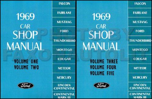1969 LINCOLN & MERCURY REPAIR SHOP & SERVICE MANUAL Continental, Continental Mark III (for 1968½ and 1969), Brougham, Comet, Cougar, XR-7, Cyclone, Cyclone CJ, Marquis, Marauder, Meteor (Canada), Montego, MX, MX Brougham, Monterey Custom 69 (Mercury Marauder Motor compare prices)