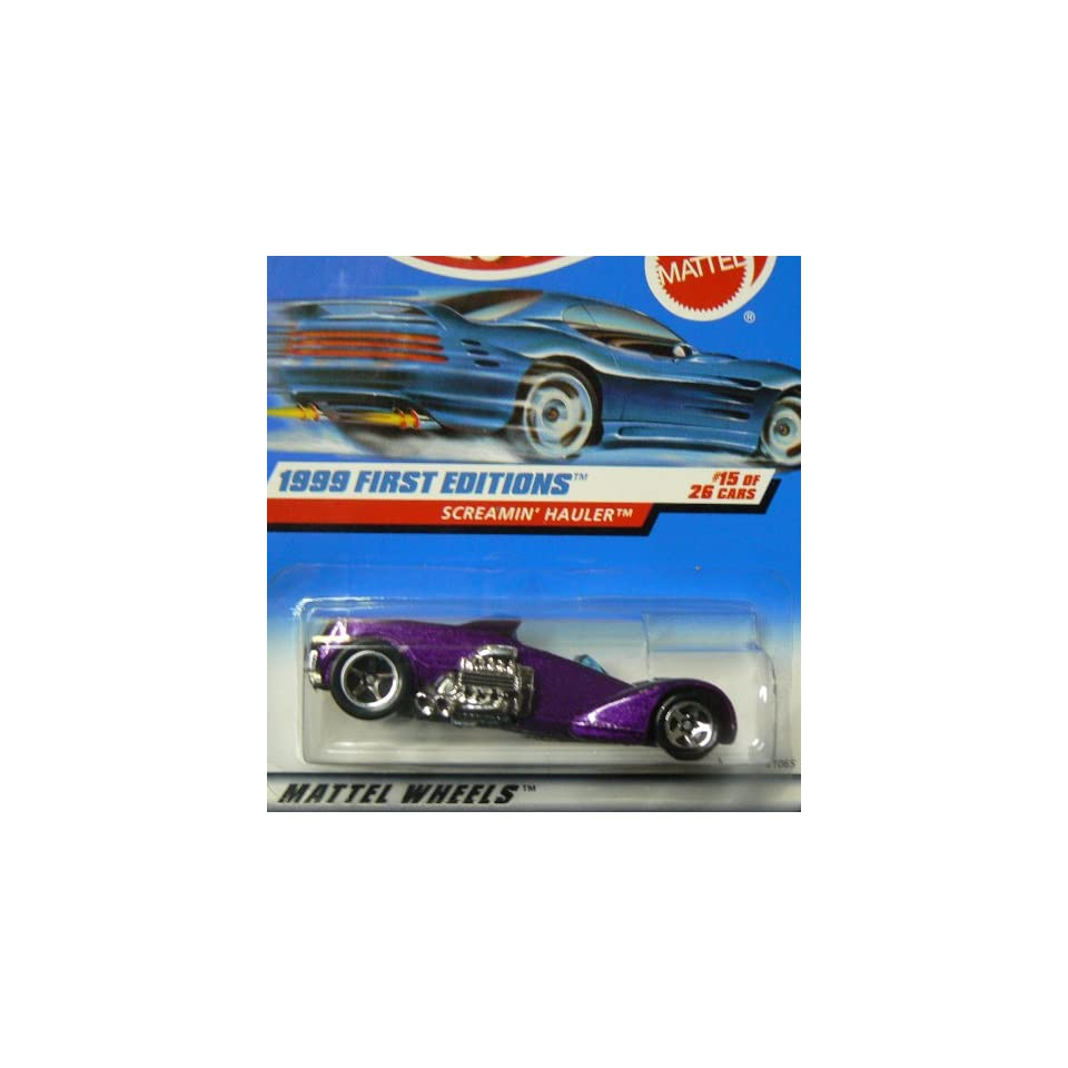 Mattel Hot Wheels 1999 First Editions 164 Scale Purple Screamin Hauler 15/26 Die Cast Car
