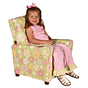 Ellies Garden Child Recliner Chair with Cup Holder by Dozy Dotes LLC