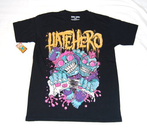HATE HERO T SHIRT HUNGER BLACK LARGE