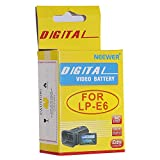NEEWER® Rechargeable Li-ion Battery Replacement for Canon LP-E6 Battery Pack Compatible with Canon EOS 5D Mark II, 60D and 7D SLR Cameras