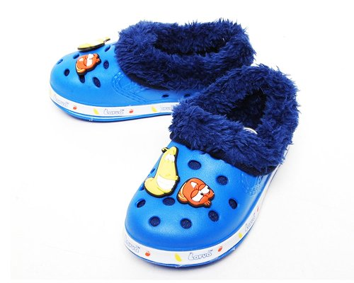 Rosenhill Boy Kids Youth Toddler Larva Character Crocs Winter Shoes Clog Mule