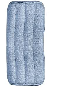 "Carlisle 363322414 Polyester/Polyimide Blend Wet Mop Pad, 24"" Length, Blue (Case of 12)"