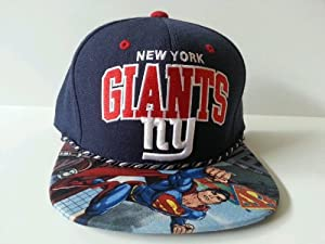 Mitchell and Ness NFL New York Giants Custom Snapback Cap, Hat: Superman by Mitchell & Ness