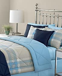 Martha Stewart ESSENTIALS Plaid Comforter, King Comforter