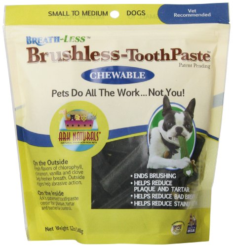 ARK-Naturals-PRODUCTS-for-PETS-326070-12-Ounce-Breath-Less-Chewable-Brushless-Toothpaste-SmallMedium