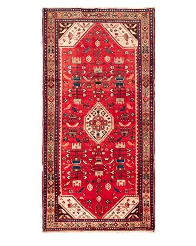 eCarpet Gallery One-of-a-Kind Hand-Knotted Hamadan Rug, Light Red, 4' 11 x 9' 6