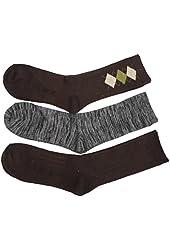 Charter Club Women's Crew Socks Grey Brown Multi Pack - 7 Pair