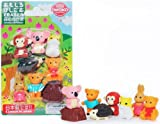 Iwako Japanese Kawaii Animal Eraser Set