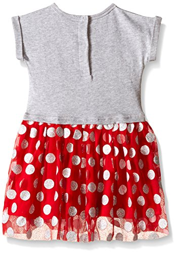 Disney Baby Girls' Minnie Mouse Knit Dress Set, Multi/Red, 3-6 Months (Pack of 2)