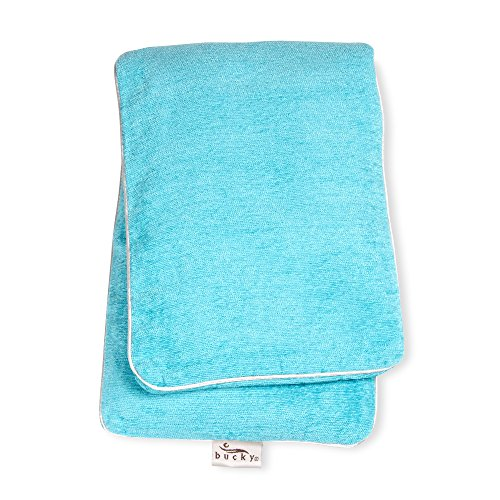 Bucky Soothing, Comfortable Hot/Cold Therapy Buckwheat Seed Filled Body Wrap - Aqua (Buckwheat Hot Pack compare prices)