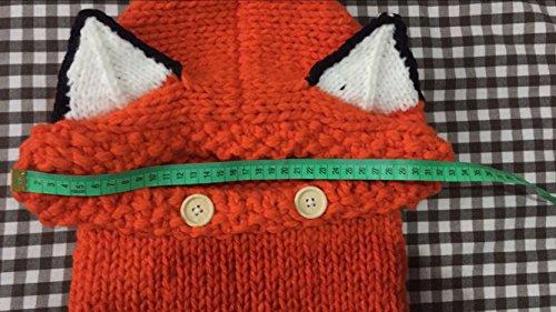 Jhua Baby Kids Warm Winter Hat Crochet Knitted Caps Hood Scarves Skull Fox Ear Beanies