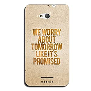 Mozine Worry About Tomorrow Printed Mobile Back Cover For Sony Xperia E4