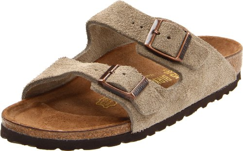 Birkenstock Unisex Arizona Sandal,Taupe Suede,42 N Eu front-958513