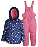 Pink Platinum Baby Girls Down Alternative Snowboard Puffer Coat and Snowpants - Navy (12 Months)