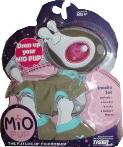 Mio Pup Hoodie Set - Olive Green Outfit with Hoodie, Socks and Fashion Figure