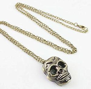 Watch Chain;START Men's Fashion Metal Vintage Steampunk Skull Necklace Pocket Watch from START