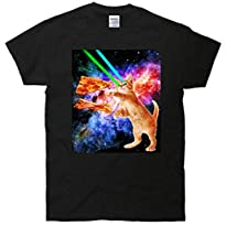 Space Hunger Flying Cat Pizza Bacon T-Shirt
