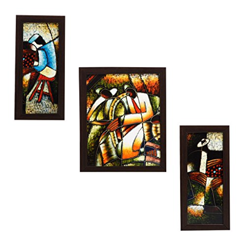 3 Piece Set Of Framed Wall Hanging Art - B00WCR0HJS