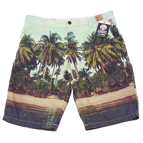 OO27Q bermuda FRANKLIN MARSHALL LEO verde pantalone corto uomo short man [34]