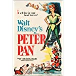 PETER PAN (RKO 1953) vintage movie poster WALT DISNEY musical KIDS 24X36 new - 2 TO 5 DAYS SHIPPING FROM USA