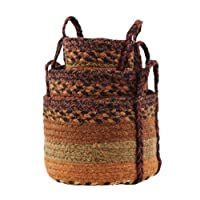 Napa Valley Jute Baskets Sm 9x7; 7x5; 5.5x3.5