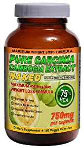 Garcinia Cambogia 75% HCA - 4500mg/day | Potassium & Calcium for Maximum Results | Natural Appetite Suppressant and Weight Loss Supplement