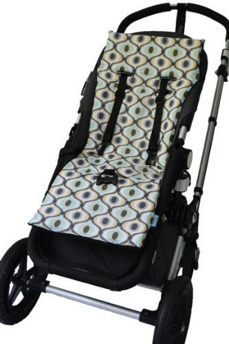 Tivoli Couture Nu Comfort Memory Foam Stroller Pad And Seat Liner, Groovy Boy front-1000987