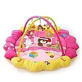 赤ちゃん用遊びマットクロールマット子供用知育玩具フィットネスフレーム デラックスジム (ピンク)