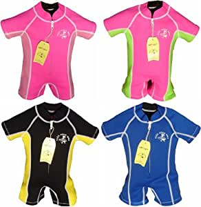 AQUA WAVE KIDS WETSUIT 6 MTHS TO 4 YEARS, PINK/LIME, S