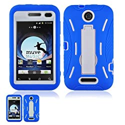 ZTE Score M X500M Blue and White Hardcore Kickstand Case