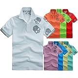 (ハイドロゲン)HYDROGEN ポロシャツ 半袖 メンズ ランダムスカル パステルカラー 並行輸入品
