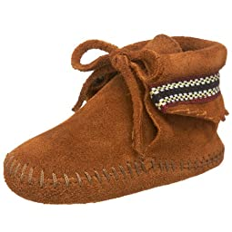 Minnetonka Braid Bootie (Infant/Toddler),Brown,3 M US Infant