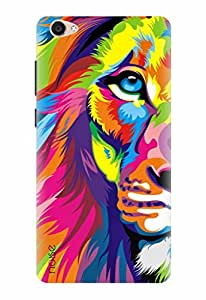 Noise Designer Printed Case / Cover for Vivo Y55L / Graffiti & Illustrations / Rainbow Lion Design