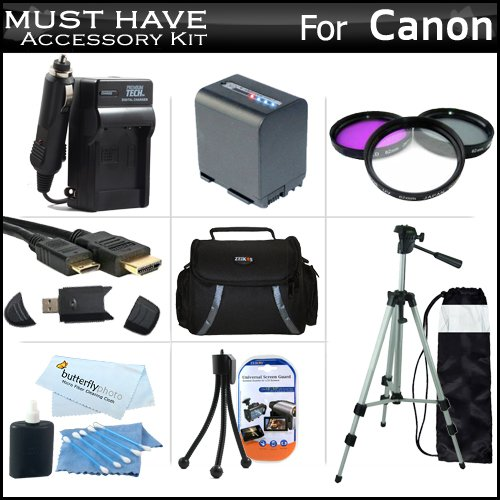 Must Have Accessory Kit For Canon VIXIA HF M41,