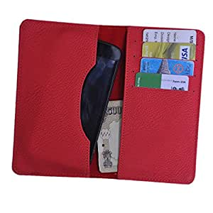 DCR Pu Leather case cover for Samsung C6712 Star Duos ll Prime (RED)