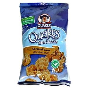Quaker Quakes Rice Snacks, Caramel Corn, 0.91-Ounce Bags