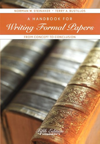 A Handbook for Writing Formal Papers: From Concept to Conclusion (5th Edition) PDF