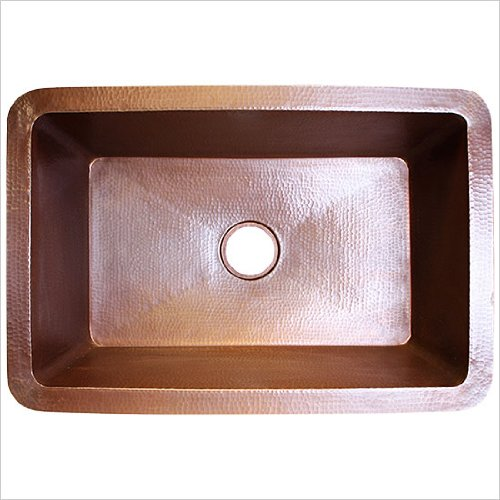 Linkasink C010 WC Undermount Kitchen Weathered Copper Single Bowl Undermount Kitchen Sink