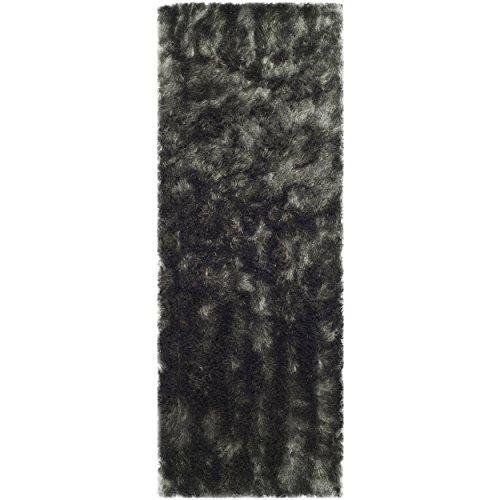 Safavieh Paris Shag Collection SG511-8383 Titanium Polyester Area Rug, 2 feet 6 inches by 4 feet (2'6