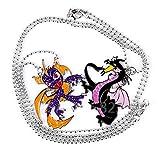 End a single black spot Maleficent dragon Sparrow legend purple dragon zinc alloy pendant
