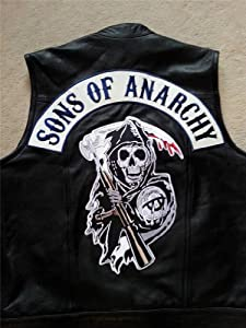 Sons Of Anarchy Grim Reaper Patch With Top Rocker Biker