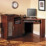 Kitchen & Housewares : Cherry Finish Home Office Corner Workstation Computer Desk