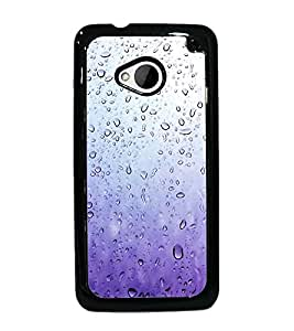 PrintDhaba Droplets D-2116 Back Case Cover for HTC ONE M7 (Multi-Coloured)