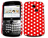 Goldstar Red Polka Dot Flowers Silicone Gel Case Cover For Samsung Ch@t335 Chat S3350