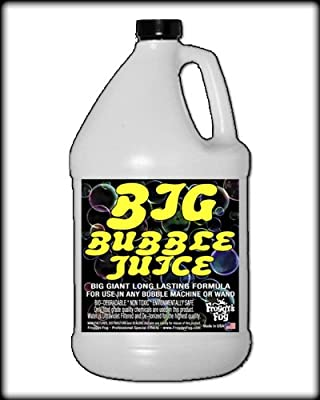 1 Gal - BIG Bubble Juice - Enormous Long-Lasting Bubble Fluid from Froggys Fog