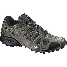 Salomon Men\'s Speedcross 3 Mountain Trail, Camo Titanium/Dark Titanium/Swamp, 11 M US
