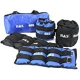 H&S® 1kg, 2kg, 3kg, 4kg, 5kg, 6kg, 8kg, 10kg, Wrist Ankle Weights Exercise Fitness Gym Resistance Stength Training Running