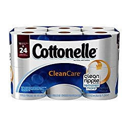 Cottonelle Clean Care Double Roll Toilet Paper With Clean Ripples