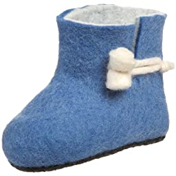 Satch & Sol Woolly Hitch Slipper (Infant/Toddler),Blue,4 M US Toddler